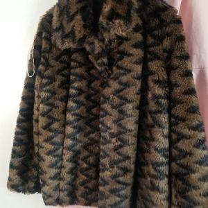 Tribal brand faux fur coat